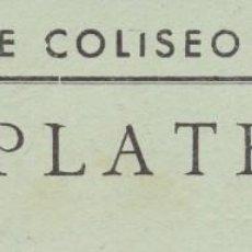 Cinema: UNA ENTRADA CINE COLISEO LA CAVA TORTOSA TARRAGONA AÑOS 50. Lote 192575468