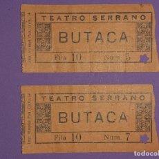 Cinéma: ENTRADA TEATRO SERRANO VALENCIA 18 JULIO 1926 IMPRIME MANUEL PAU. Lote 195901872
