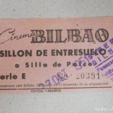 Cinéma: ENTRADA DE CINE - CINE BILBAO - SILLÓN ENTRESUELO - MADRID - 27 DE OCTUBRE DE 1951. Lote 195915745