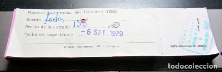 Cine: TACO COMPLETO 100 ENTRADAS CINE GRAN VIA ZARAGOZA 1979 CON MATRIZ COLOR ROSA - Foto 2 - 197262345