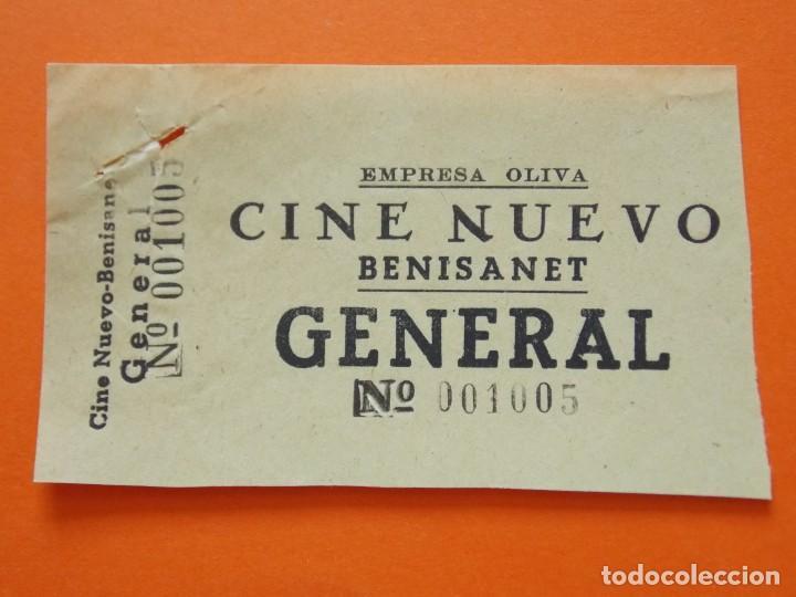ENTRADA GENERAL - CINE NUEVO - BENISANET, BENISSANET - TARRAGONA - EMPRESA OLIVA - AÑOS 40 - L786 (Cine - Entradas)