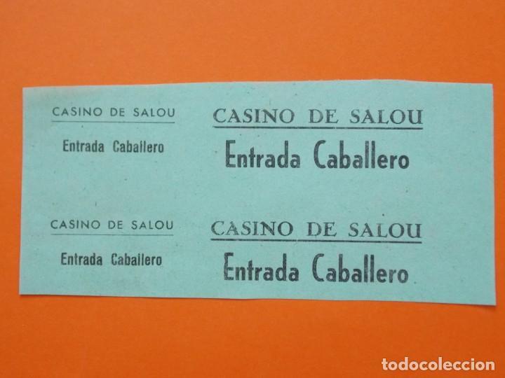 2 ENTRADAS - CINE CASINO - SALOU - TARRAGONA - AÑOS 40 - SIN CORTAR .. L790 (Cine - Entradas)
