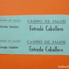 Cinema: 2 ENTRADAS - CINE CASINO - SALOU - TARRAGONA - AÑOS 40 - SIN CORTAR .. L790. Lote 200582501