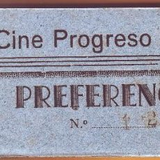 Cine: Nº 24 TACO CON 99 ENTRADAS CINE PROGRESO DE PUERTO REAL. Lote 202440672