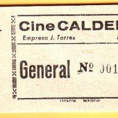 Cine: Nº 25 TACO CON 17 ENTRADAS DEL CINE CALDERÓN DE MONTIJO. Lote 202441390