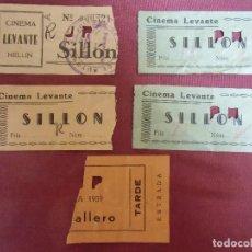 Cinéma: HELLIN(ALBACETE) CINEMA LEVANTE.ENTRADAS AÑOS 50.. Lote 203830801