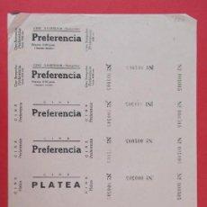 Cine: 6 ENTRADAS CINE SAMPEDOR, BARCELONA, AÑOS 40 - HOJA SIN CORTAR.. L1078. Lote 205099978