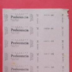 Cine: 6 ENTRADAS CINE NUEVO, SAN QUIRICO DE TARRASA, TERRASSA, BARCELONA, AÑOS 40, HOJA SIN CORTAR.. L1083. Lote 205107886