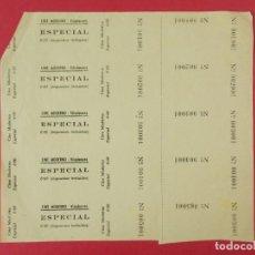 Cine: 5 ENTRADAS CINE MODERNO VILADECANS, BARCELONA, AÑOS 40, HOJA SIN CORTAR.. L1094. Lote 205116643
