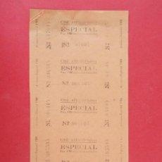 Cine: 5 ENTRADAS CINE ATENEO SALLENT - BARCELONA, AÑOS 40, HOJA SIN CORTAR.. L1103. Lote 205120905