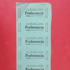 Cine: 6 ENTRADAS CINE PRINCIPAL SABADELL - BARCELONA, AÑOS 40, HOJA SIN CORTAR.. L1107. Lote 205121732