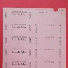 Cine: 6 ENTRADAS CINE PRINCIPAL SABADELL - BARCELONA, AÑOS 40, HOJA SIN CORTAR.. L1109. Lote 205122447