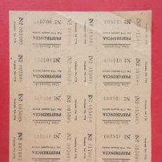 Cinéma: 10 ENTRADAS CINE PROVENZALS - BARCELONA, AÑOS 40, HOJA SIN CORTAR.. L1124. Lote 205245243