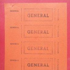 Cine: 5 ENTRADAS CINE CIRCULO - CERVERA, LERIDA, LLEIDA - AÑOS 40, HOJA SIN CORTAR.. L1131. Lote 205258051