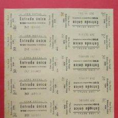 Cine: 12 ENTRADAS CINE ROYAL - AÑOS 40, HOJA SIN CORTAR.. L1140. Lote 205648637