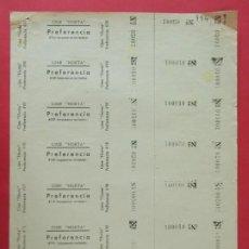 Cine: 7 ENTRADAS CINE HORTA - BARCELONA - AÑOS 40, HOJA SIN CORTAR.. L1143. Lote 205649443