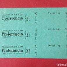 Cine: 3 ENTRADAS CINE RECREO - SAN ADRIÁN DE BESÓS - BARCELONA - AÑOS 40, HOJA SIN CORTAR.. L1147. Lote 205650033
