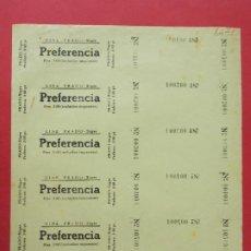 Cine: 6 ENTRADAS CINE PRADO - SITGES - BARCELONA - AÑOS 40, HOJA SIN CORTAR.. L1148. Lote 205650288
