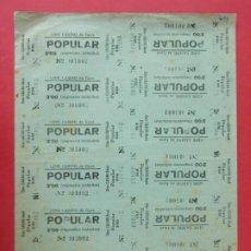 Cine: 14 ENTRADAS CINE CASINO - GAVÁ - BARCELONA - AÑOS 40, HOJA SIN CORTAR.. L1152. Lote 205651563