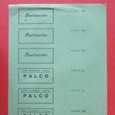 Cine: 7 ENTRADAS CINE ALIANZA- CUBELLAS - CUBELLES - BARCELONA - AÑOS 40, HOJA SIN CORTAR.. L1156. Lote 205652725