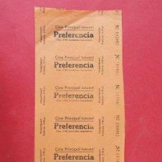Cine: 6 ENTRADAS CINE PRINCIPAL - SABADELL - BARCELONA - AÑOS 40, HOJA SIN CORTAR.. L1158. Lote 205774541