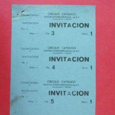Cine: 6 ENTRADAS CINE VILADECANS - BARCELONA - AÑOS 40, HOJA SIN CORTAR.. L1159. Lote 205774783