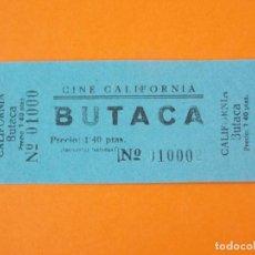 Cine: ENTRADA CINE CALIFORNIA - AÑOS 40... L1180. Lote 206330360