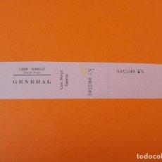 Cine: ENTRADA CINE COLL DE NARGO - LERIDA - LLEIDA - AÑOS 40... L1183. Lote 206331872