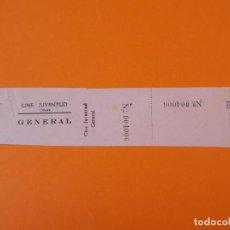 Cine: ENTRADA CINE JUVENTUD - OLIANA, LERIDA - LLEIDA - AÑOS 40... L1184. Lote 206332471