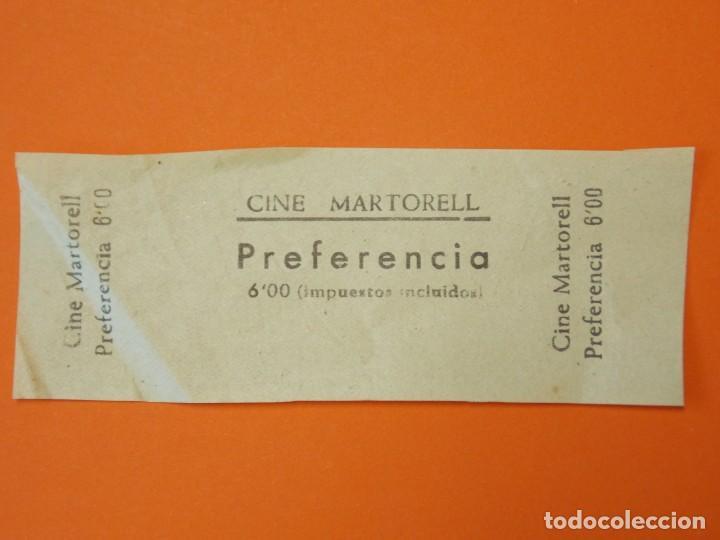ENTRADA CINE MARTORELL - MARTORELL- BARCELONA - AÑOS 40 - L1196 (Cine - Entradas)