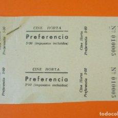 Cine: 3 ENTRADAS CINE HORTA Y EL DORADO - BARCELONA - AÑOS 40 - L1197. Lote 206855036