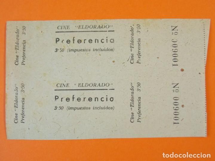 2 ENTRADAS EL DORADO - BARCELONA - AÑOS 40 - L1198 (Cine - Entradas)