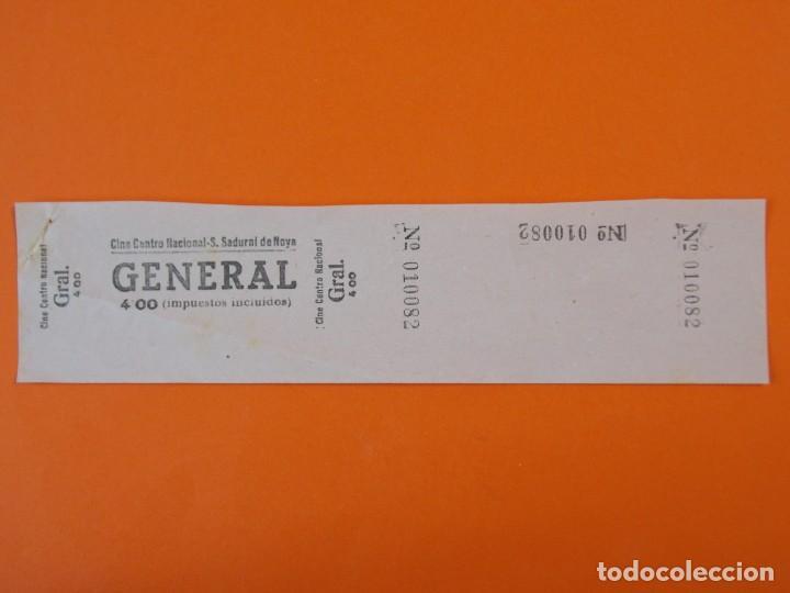 ENTRADA CINE CENTRO NACIONAL - SAN SADURNÍ DE NOYA - BARCELONA - AÑOS 40 - L1199 (Cine - Entradas)