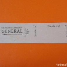 Cine: ENTRADA CINE CENTRO NACIONAL - SAN SADURNÍ DE NOYA - BARCELONA - AÑOS 40 - L1199. Lote 206855553