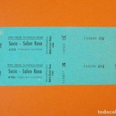 Cine: 2 ENTRADAS ATENEO FAMILIAR - SAN BAUDILLO DE LLOBREGAT - BARCELONA - AÑOS 40 - L1201. Lote 206859095