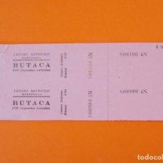 Cine: 2 ENTRADAS CENTRO ARTISTICO - MARTORELL - BARCELONA - AÑOS 40 - L1202. Lote 206860223