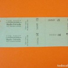 Cine: 2 ENTRADAS CINE NUEVO - SAN QUÍRICO DE TARRASA - BARCELONA - AÑOS 40 - L1206. Lote 206863267