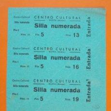 Cinéma: 4 ENTRADAS CENTRO CULTURAL - RAPITA (MONJOS) - BARCELONA - AÑOS 40 - L1209. Lote 206863880