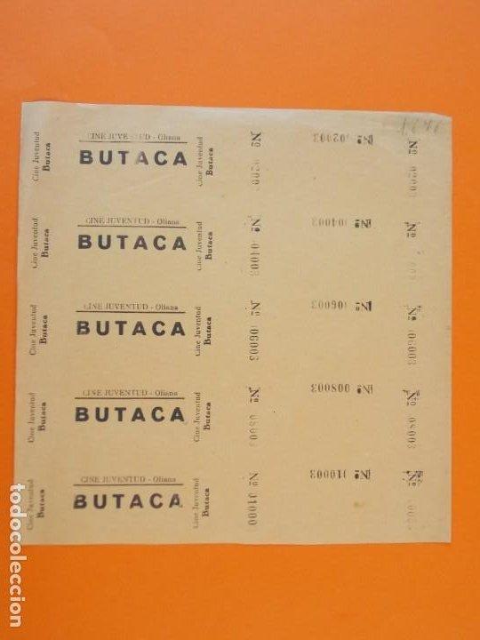 5 ENTRADAS CINE JUVENTUD - OLIANA - LLEIDA - AÑOS 40 - L1210 (Cine - Entradas)