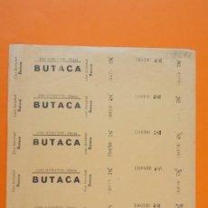 Cine: 5 ENTRADAS CINE JUVENTUD - OLIANA - LLEIDA - AÑOS 40 - L1210. Lote 206864220
