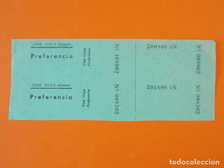 2 ENTRADAS CINE GOYA - ALCANAR - TARRAGONA - AÑOS 40 - L1211 (Cine - Entradas)