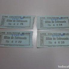 Cine: 4 ENTRADAS CINE COLISEVM COLISEUM MADRID 27 DIC 1977 POSIBLEMENTE PARA VER LA GUERRA DE LAS GALAXIAS. Lote 208669972