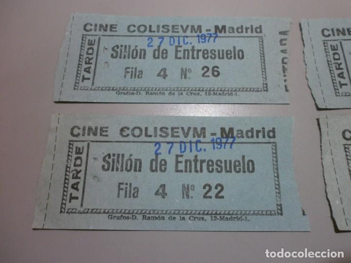 Cine: 4 entradas cine colisevm coliseum madrid 27 dic 1977 posiblemente para ver la guerra de las galaxias - Foto 2 - 208669972
