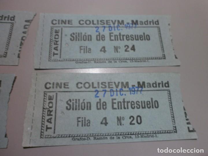 Cine: 4 entradas cine colisevm coliseum madrid 27 dic 1977 posiblemente para ver la guerra de las galaxias - Foto 3 - 208669972