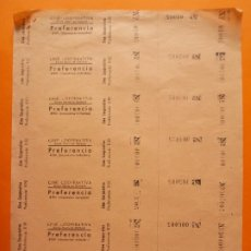 Cine: 7 ENTRADAS CINE COOPERATIVA- SANTA MARIA DE BARBERÁ - SIN CORTAR - AÑOS 40 - PREFERENCIA ..L1445. Lote 209011233
