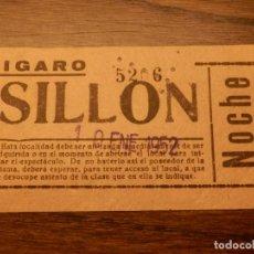 Cinéma: ENTRADA DE CINE - CINE FIGARO - MADRID - SILLÓN DE ENTRESUELO - 10 DE ENERO 1952. Lote 209308700