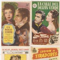 Cinema: LOTE DE 59 PROGRAMAS TEATRO CIRCO DE DENIA (ALICANTE) 1947/1950. Lote 209882601