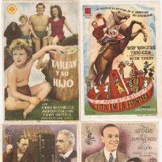 Cinema: LOTE DE 67 PROGRAMAS DE CINE. ALGUNOS IMPRESOS EN REVERSO. Lote 209893267