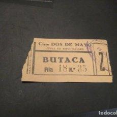 Cine: ENTRADA CINE DOS DE MAYO. JUNTA DE ESPECTÁCULOS EPOCA GUERRA CIVIL. Lote 210041115