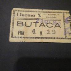 Cine: ENTRADA CINE CINEMA X. 1939 EPOCA GUERRA CIVIL.. Lote 210042030